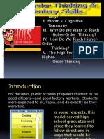 Teaching High Order Thinking Original