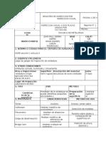 Registro de Inspeccion Por Inspeccion Visual