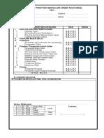 Form-evaluasi Praktik Mengajar