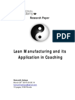 Research Paper - Lean Manufacturing Principles in Coaching