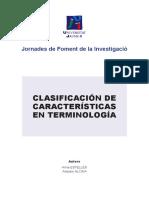 Clasficación de Características en Terminología Anna Estellés