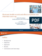 Electronic Health Records and Effects on Patient Care What Their Users Say (Hal 7)
