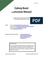 Instructions Cyborg Beast Updated 6-26-14