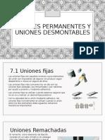 Uniones Permanentes y Uniones Desmontables