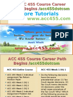 ACC 455 Course Career Path Begins Acc455dotcom
