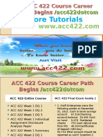 ACC 422 Course Career Path Begins Acc422dotcom