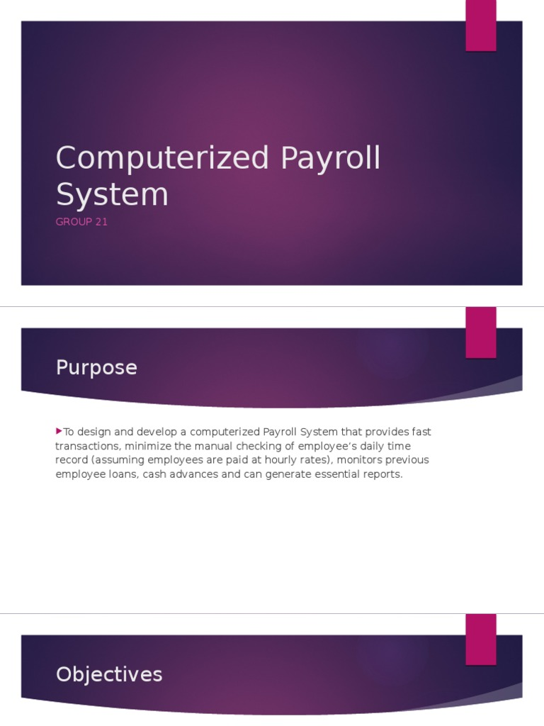 computerized payroll system