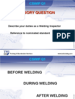CSWIP 3.1 Practice Questions