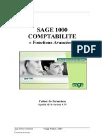Sage 1000 Comptabilité - Fonctions Avancées - Cahier de Form