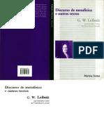 LEIBNIZ, Gottfried Wilhelm. Discurso de Metafisica e Outros Textos