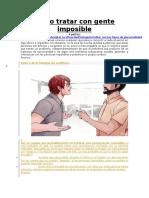 Como Tratar Con Personas Insoportables