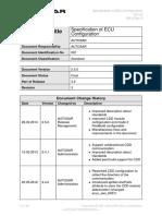 AUTOSAR ECU Configuration