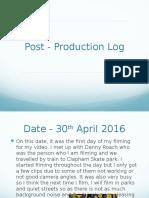 post production log