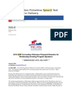 GOP speeches release from RNC