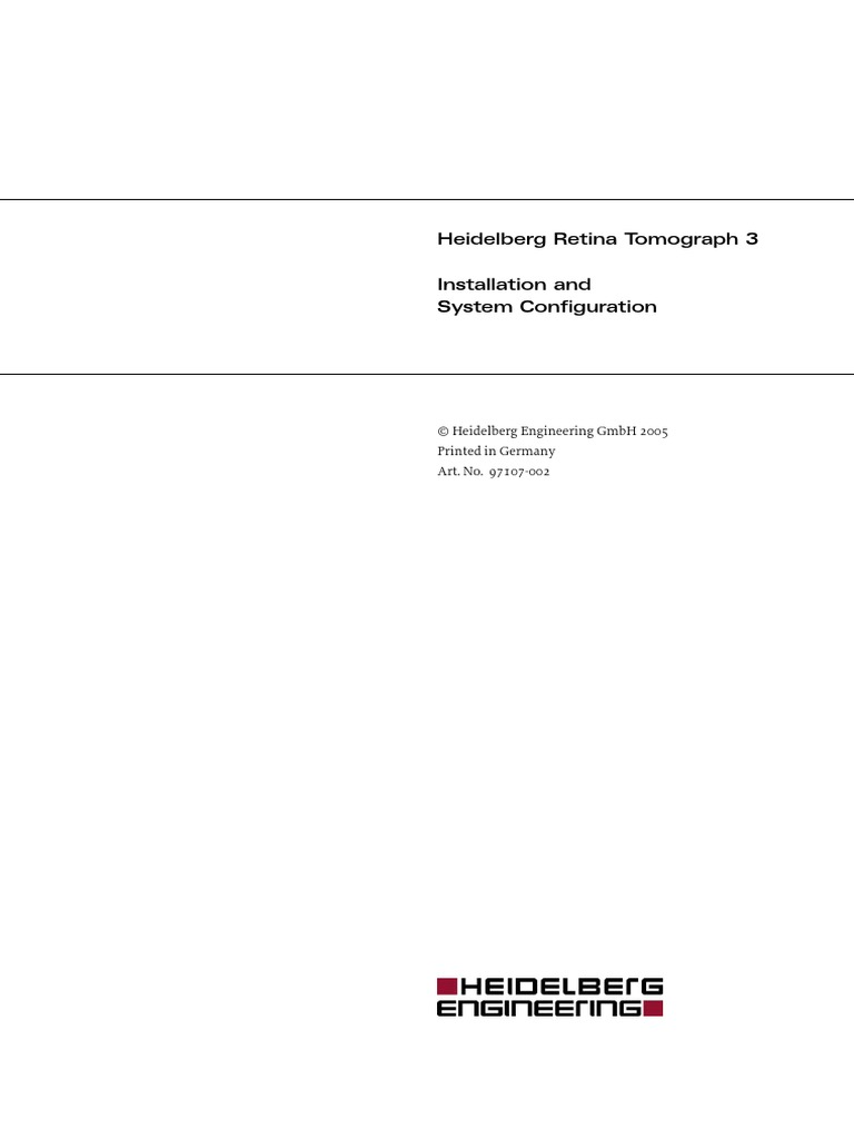 Heidelberg HRT3 - Installation Manual | Ac Power Plugs And Sockets |  Installation (Computer Programs)