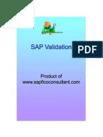 SAP Validation