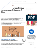 How to Solve Linear Sitting Arrangement_ Concept & Tips