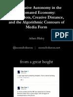 Algorithmic Media Form presentation