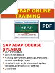 sap abap online training in japan