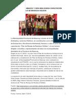 Noticia Del Pregon-capacitacion en Plan de Manejo de Rrss