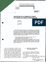Adaptation de La Formule de Caquot Aux Régimes Des Régions Intertropicales