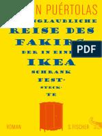 Puértolas, Romain - Die Unglaubliche Reise Des Fakirs, Der in Einem Ikea-Schrank Feststeck