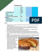 Cake - Lemon Rosemary Polenta