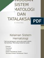 Gangguan Sistem Hematologi Dan Tatalaksana