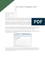 Aplikasi Searching Tweet Dgn PHP