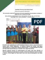 Nota de Prensa 2016 - 184