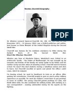 Winston Churchill Short Biography
