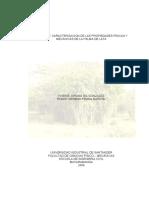 Caracterización de las propiedades físicas de la palma de lata