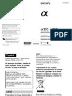 Manual Camara Sony Alpha 300