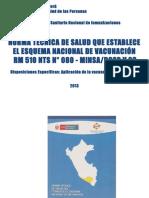 NORMA TECNICA 2014 Nuevo Esquema de Vacunación