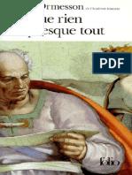 Presque Rien Sur Presque Tout - Jean DOrmesson