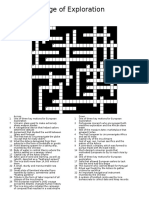 Age of Exploration Crossword Puzzle