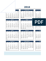2016-Yearly Calendar in Excel Template-PT