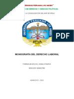 Monografia de Derecho Laboral