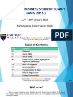 MBSS 2016 - Participants Information Pack