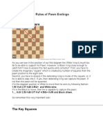 The Elementary Rules of Pawn Endings