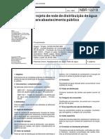 Nbr 12218 - Projeto De Rede De Distribuicao De Agua Para Abastecimento Publico (1).pdf