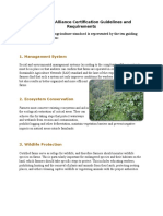 Rainforest Alliance Certification Guidelines and Requirements