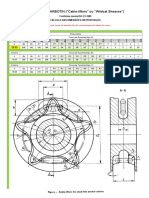 Cálculos de Coroas de Barbotin (Calculations for Cable Lifter, ou, Wildcat Sheaves) ISO 21-1985