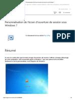 Personnalisation de l'Écran d'Ouverture de Session Sous Windows 7