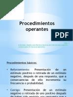 procedimientos operantes