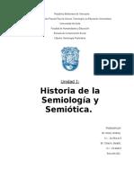 Historia de La Semiología y Semiótica.