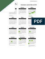 Calendario Laboral Murcia 2016 PDF