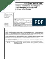 NBR NM-IsO 6484 - 2001 - Maquinas Rodoviarias - Escreiperes Autocarregaveis - Capacidades Nominai