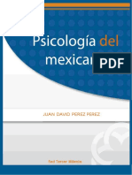 Psicologia Del Mexicano. LIBRO