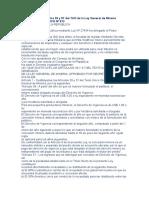 Sustituyen Los Artículos 39 y 57 Del TUO de La Ley General de Minería
